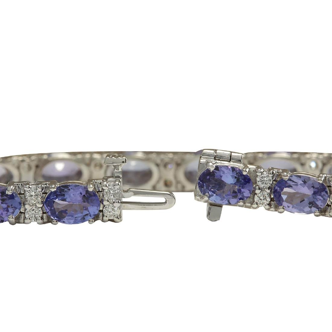 15.95CTW Natural Tanzanite And Diamond Bracelet In 18K - 2