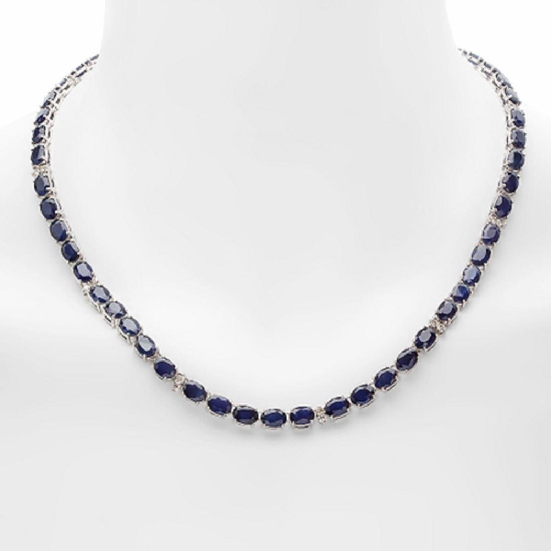 55.85 Carat Natural Sapphire 18K Solid White Gold