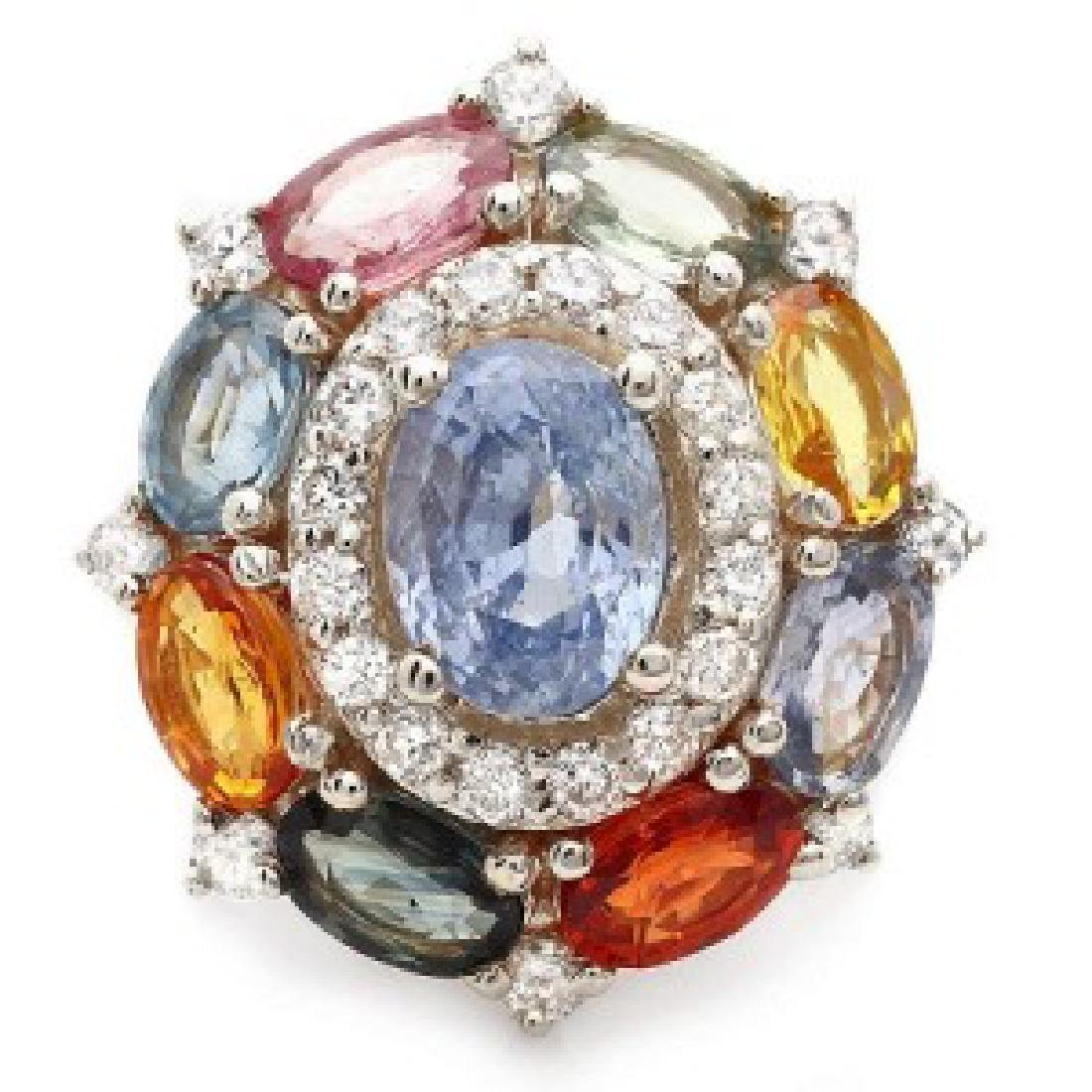 7.84 Carat Natural Sapphire 18K Solid White Gold - 2