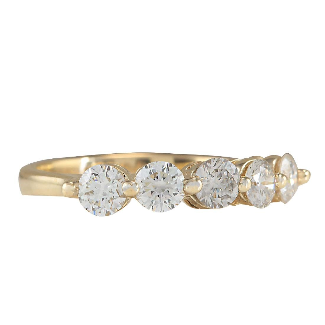 1.00CTW Natural Diamond Ring In 18K Yellow Gold - 2