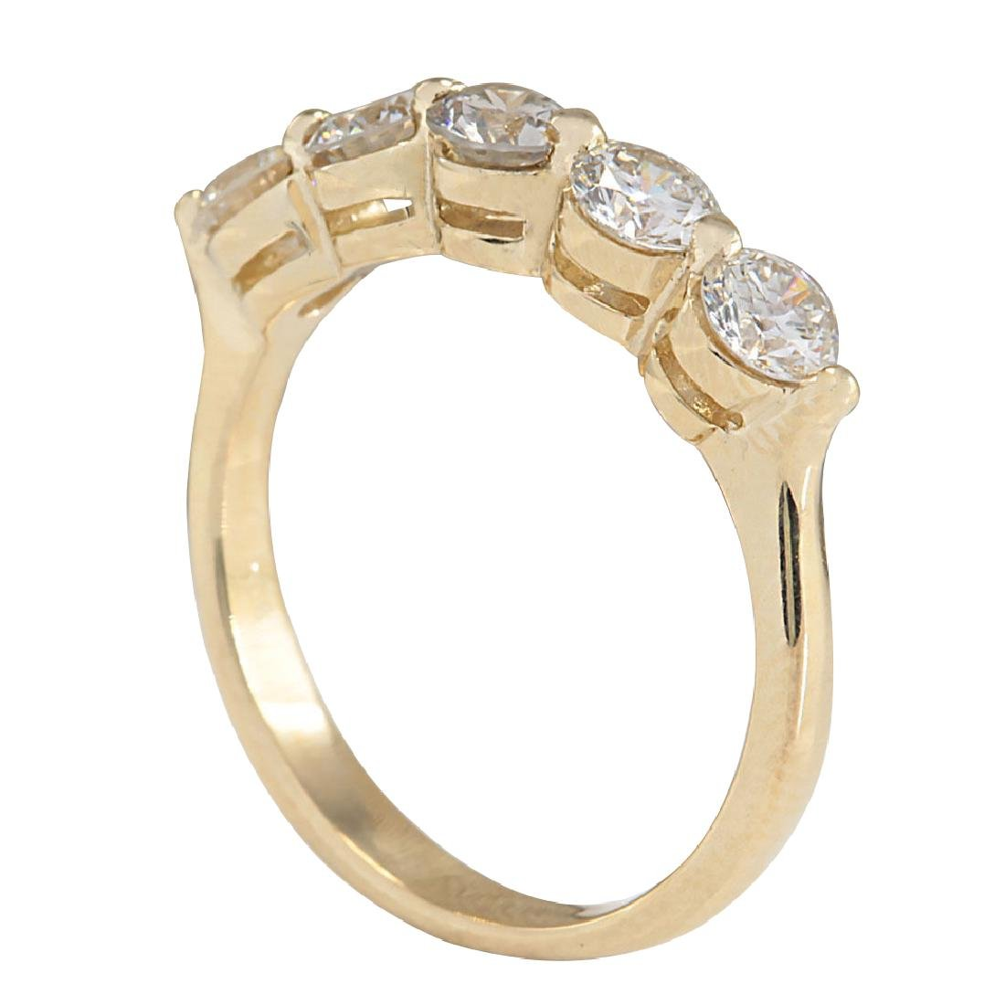1.00CTW Natural Diamond Ring In 18K Yellow Gold - 3