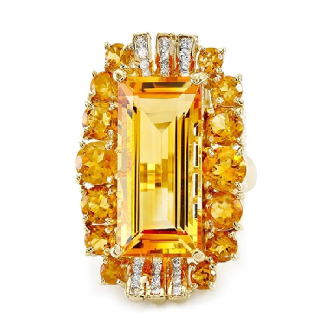20.55 Carat Natural Citrine 18K Solid Yellow Gold