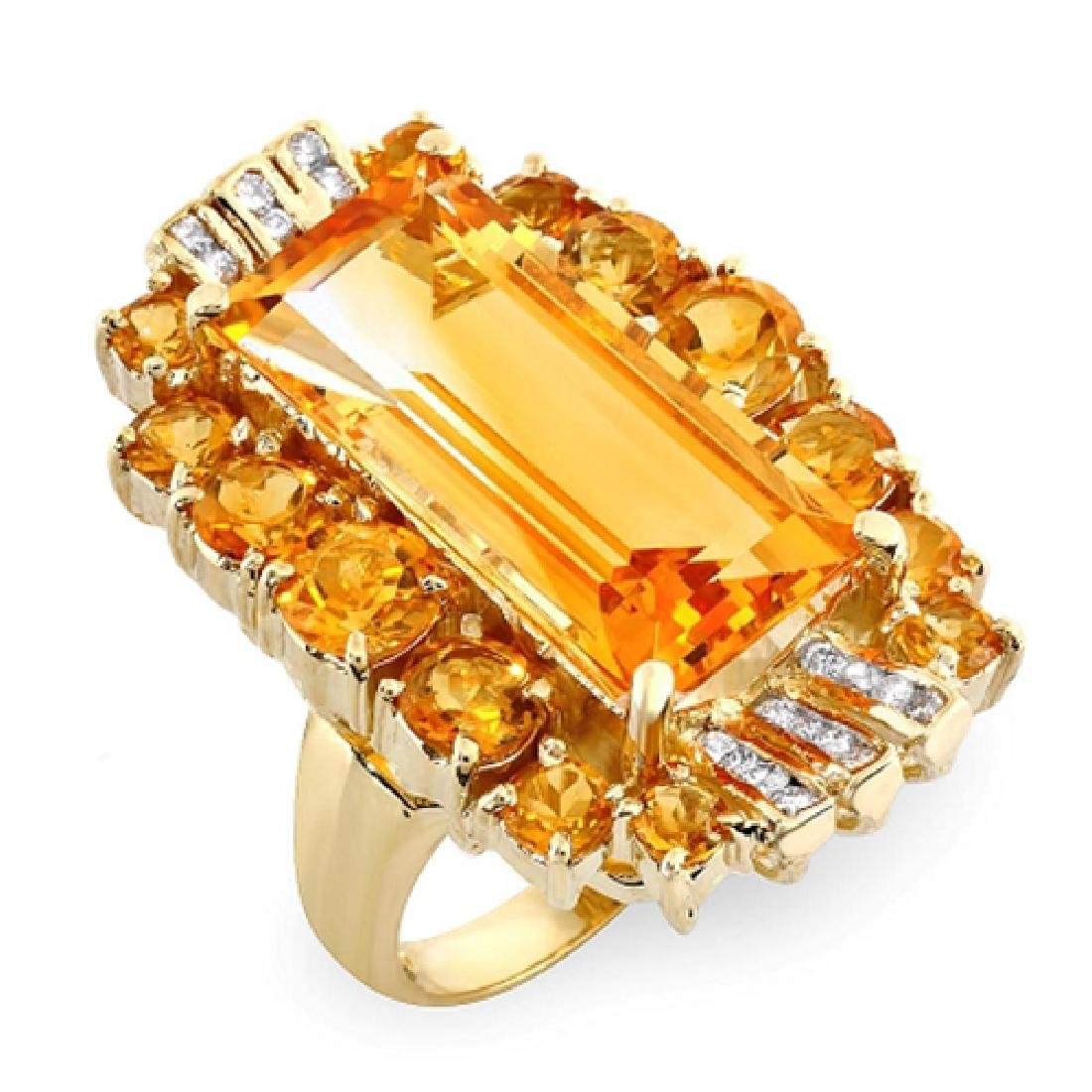 20.55 Carat Natural Citrine 18K Solid Yellow Gold - 2