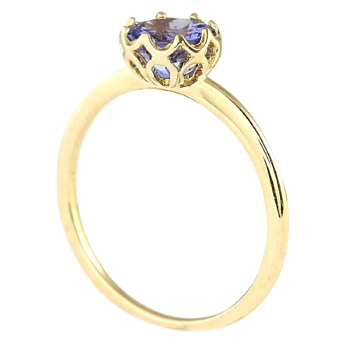 1.35 CTW Natural Tanzanite Ring In 18K Yellow Gold - 3