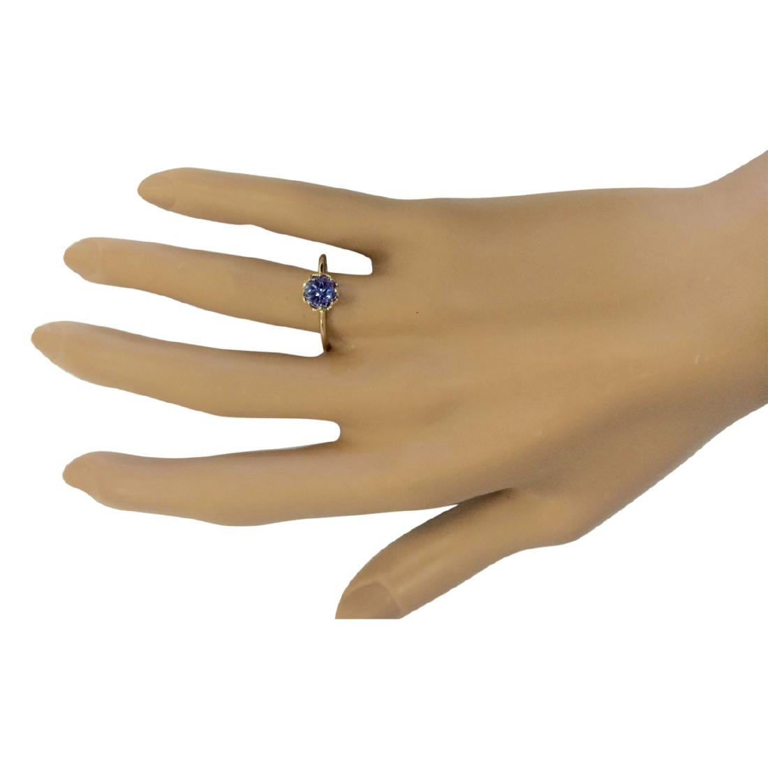 1.35 CTW Natural Tanzanite Ring In 18K Yellow Gold - 4