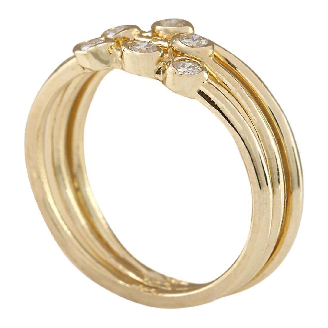 .24 CTW Diamond Ring In 18K Solid Yellow Gold - 3