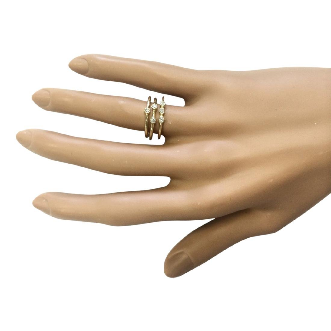 .24 CTW Diamond Ring In 18K Solid Yellow Gold - 4