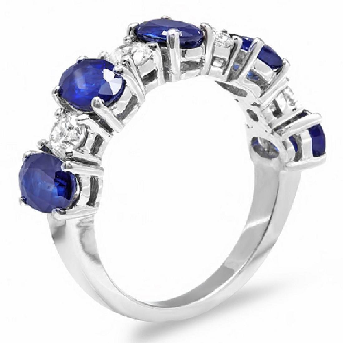 3.35 Carat Natural Sapphire 18K Solid White Gold - 2