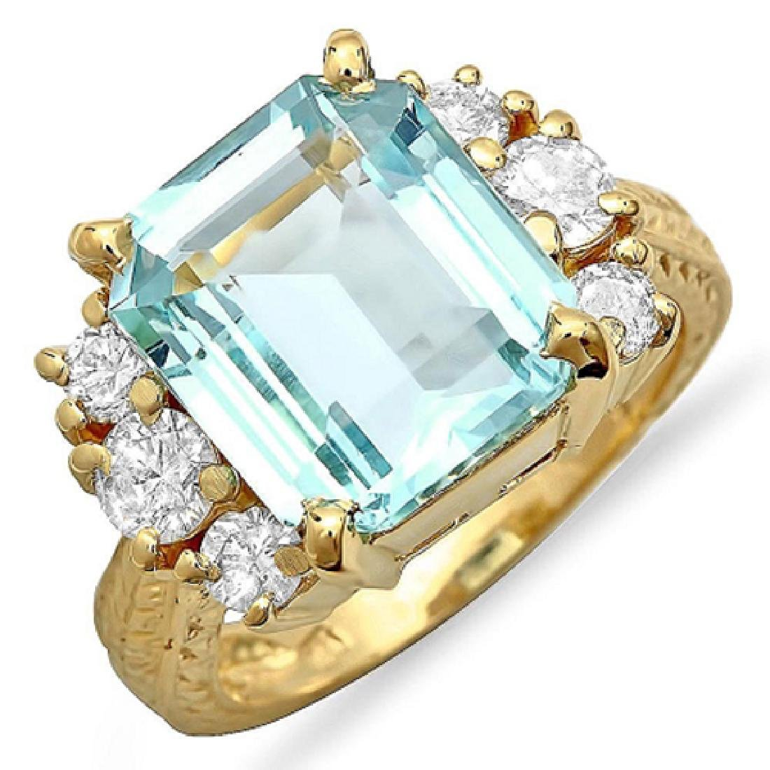 6.80 Carat Natural Sapphire 18K Solid Yellow Gold