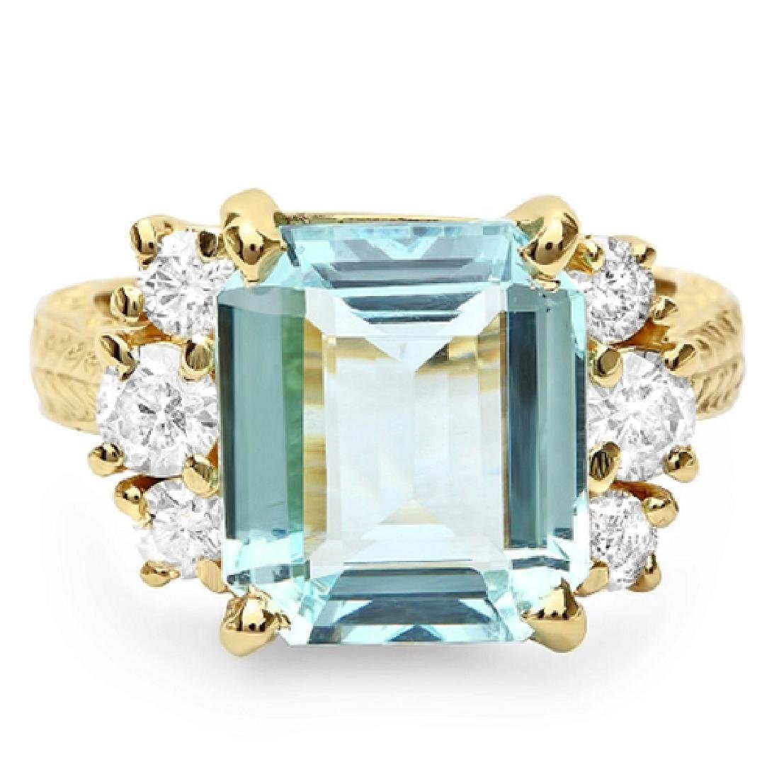 6.80 Carat Natural Sapphire 18K Solid Yellow Gold - 2