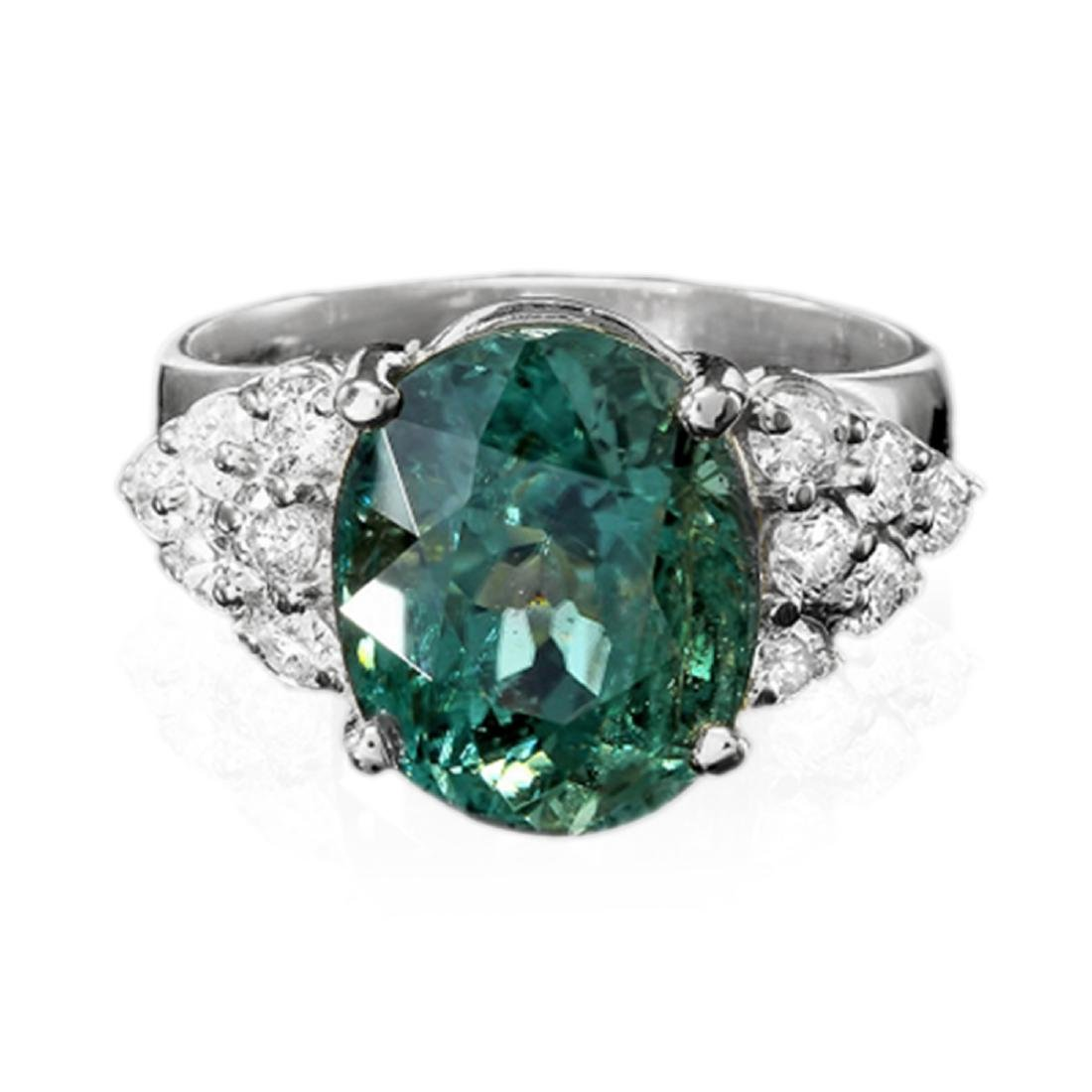 7.40 Carat Natural Tourmaline 18K Solid White Gold