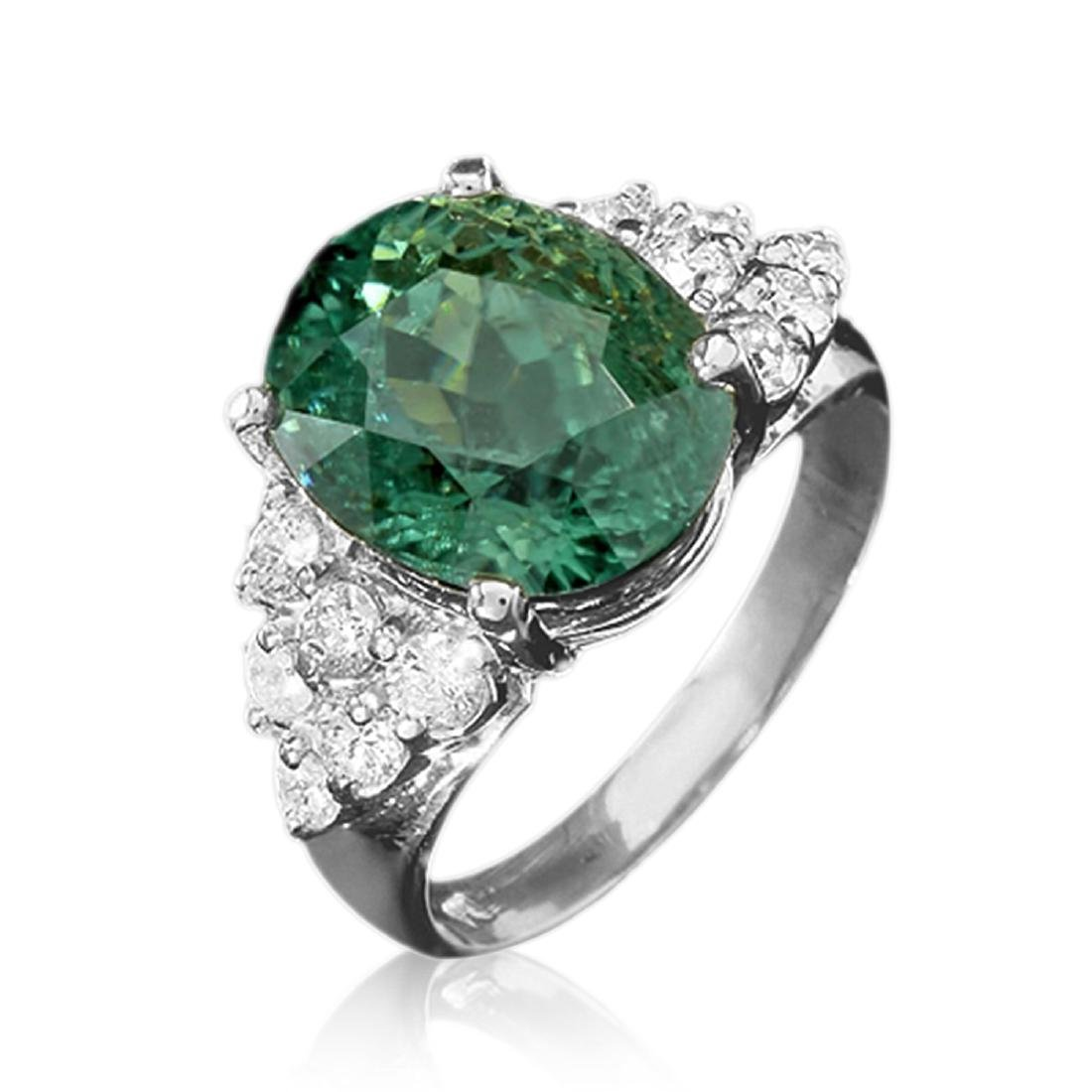 7.40 Carat Natural Tourmaline 18K Solid White Gold - 2