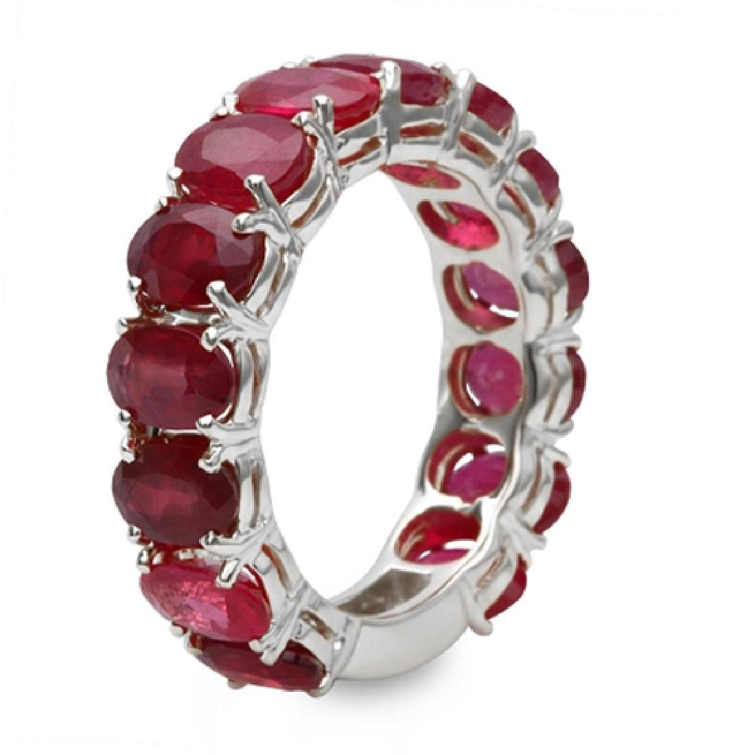 9.00 Carat Natural Ruby 18K Solid White Gold  Ring - 2