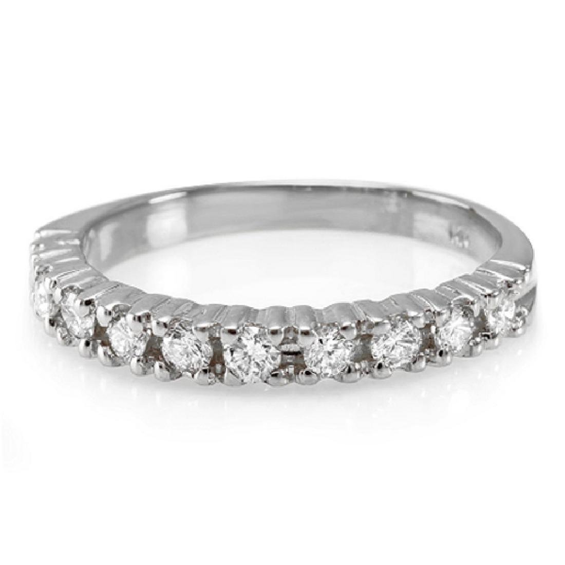 Mens 0.36 Carat Natural Diamond 18K Solid White Gold