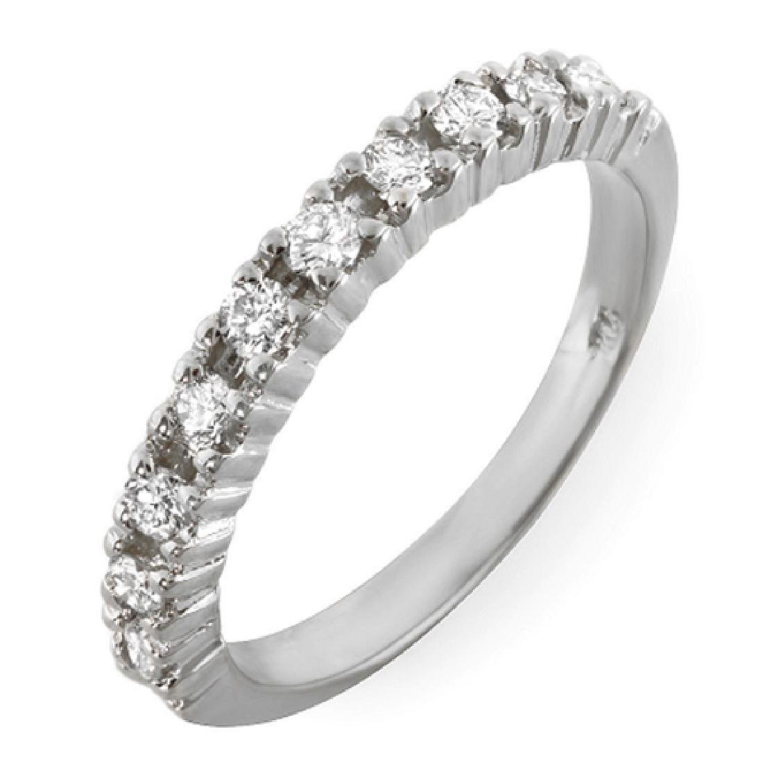 Mens 0.36 Carat Natural Diamond 18K Solid White Gold - 2