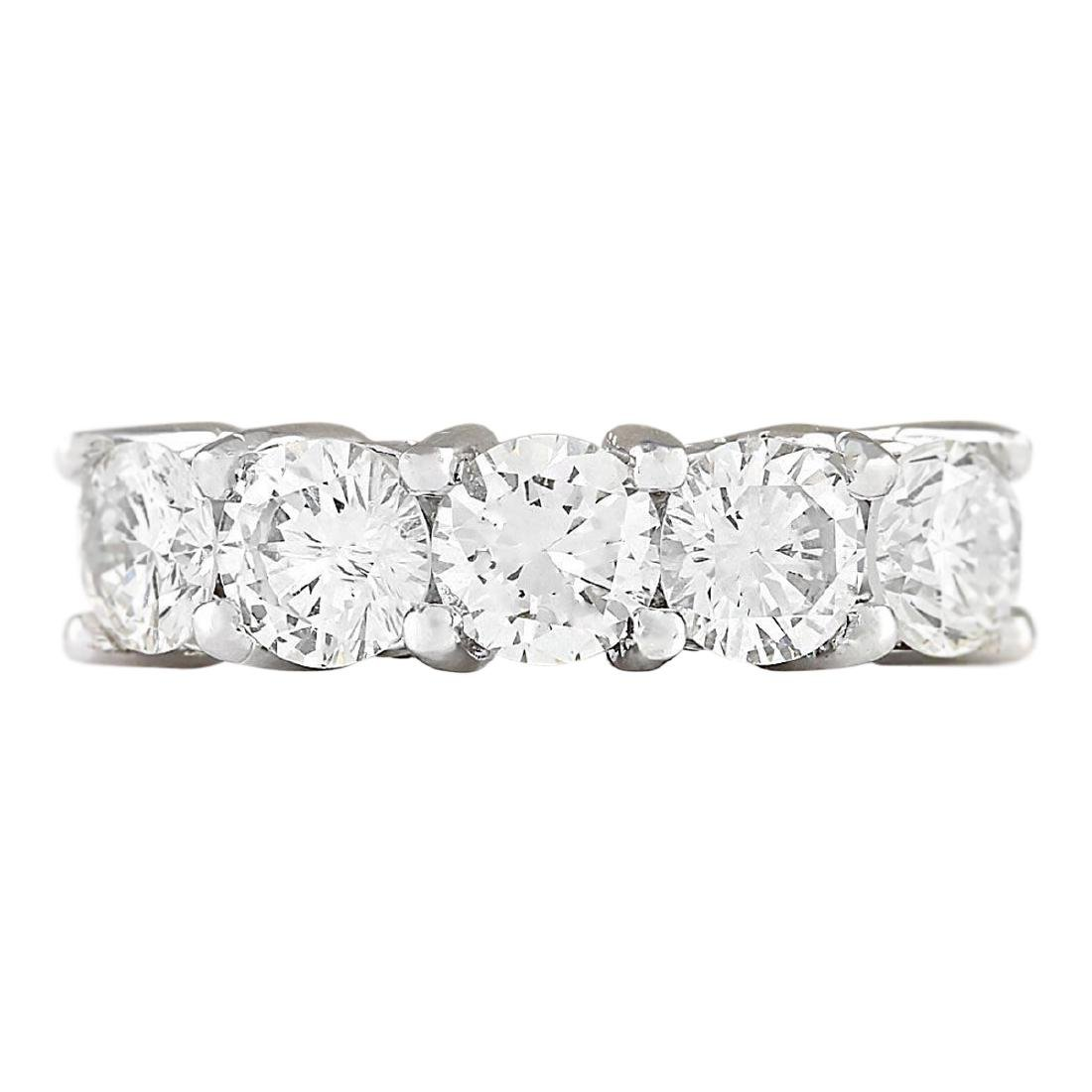 2.56 CTW Natural Diamond Ring 18K Solid White Gold