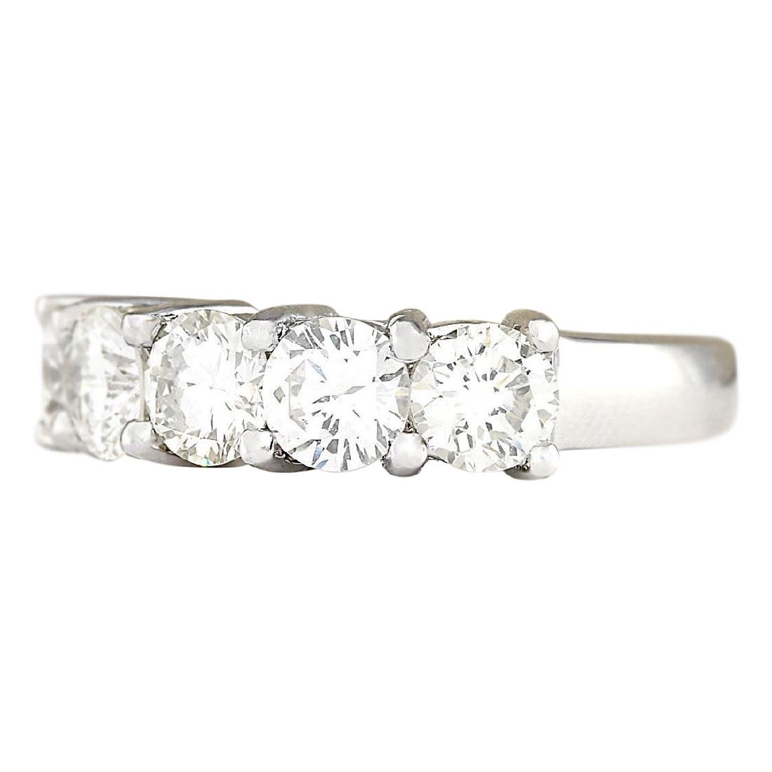 2.56 CTW Natural Diamond Ring 18K Solid White Gold - 2