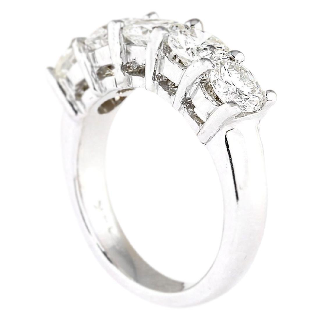 2.56 CTW Natural Diamond Ring 18K Solid White Gold - 3