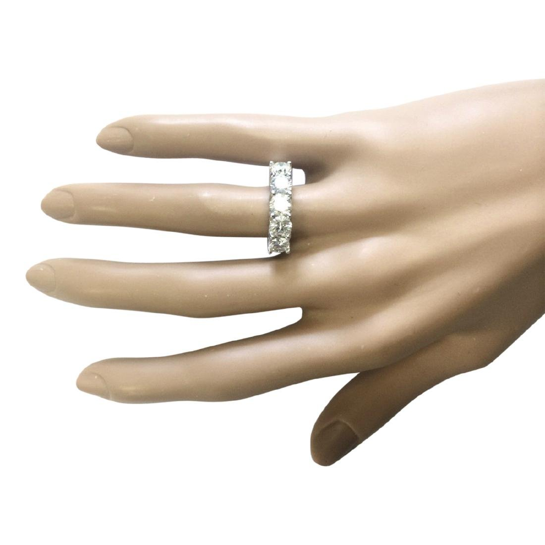 2.56 CTW Natural Diamond Ring 18K Solid White Gold - 4