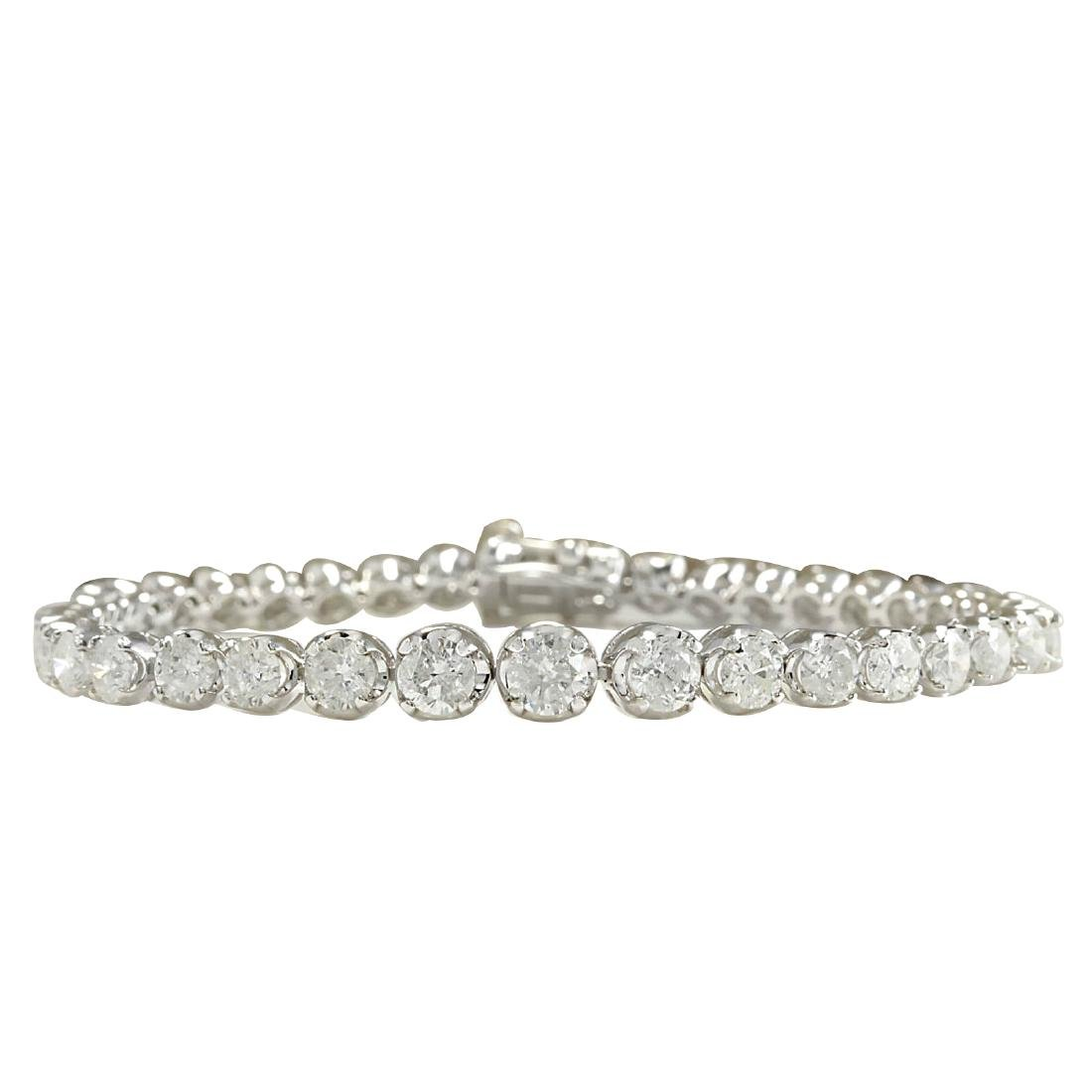 7.50CTW Natural Diamond Bracelet In 18K Solid White