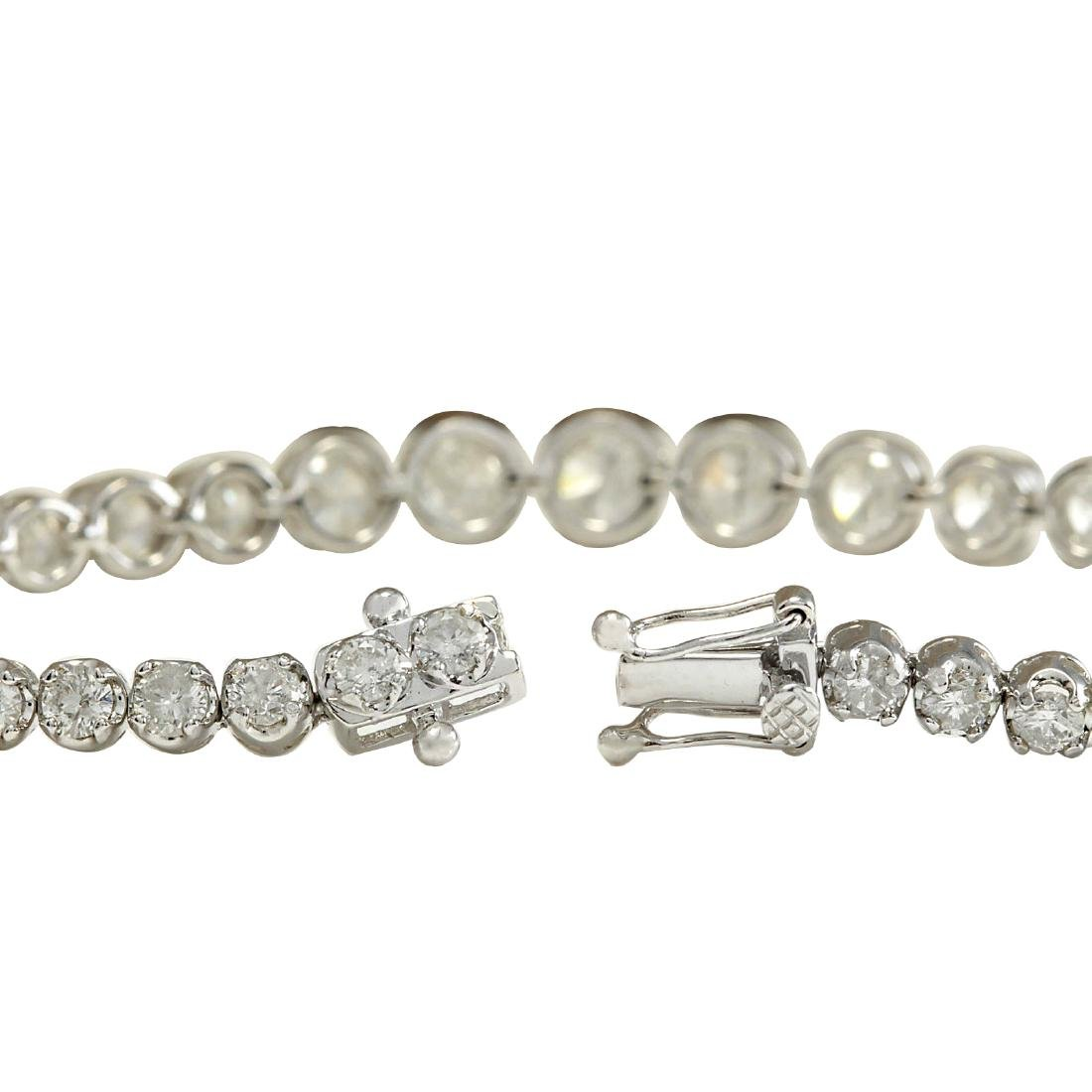 7.50CTW Natural Diamond Bracelet In 18K Solid White - 2