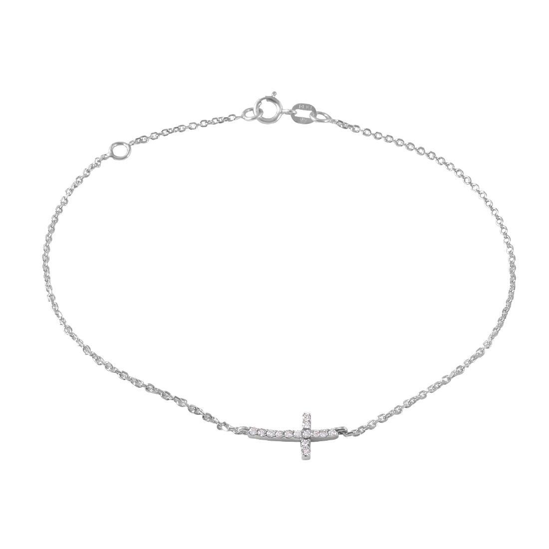 0.10 Carat Natural Diamond 18K Solid White Gold