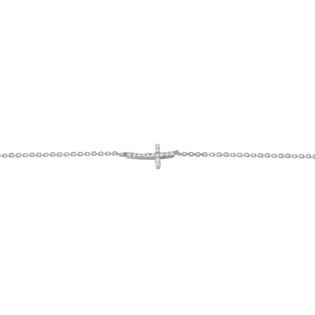 0.10 Carat Natural Diamond 18K Solid White Gold - 2