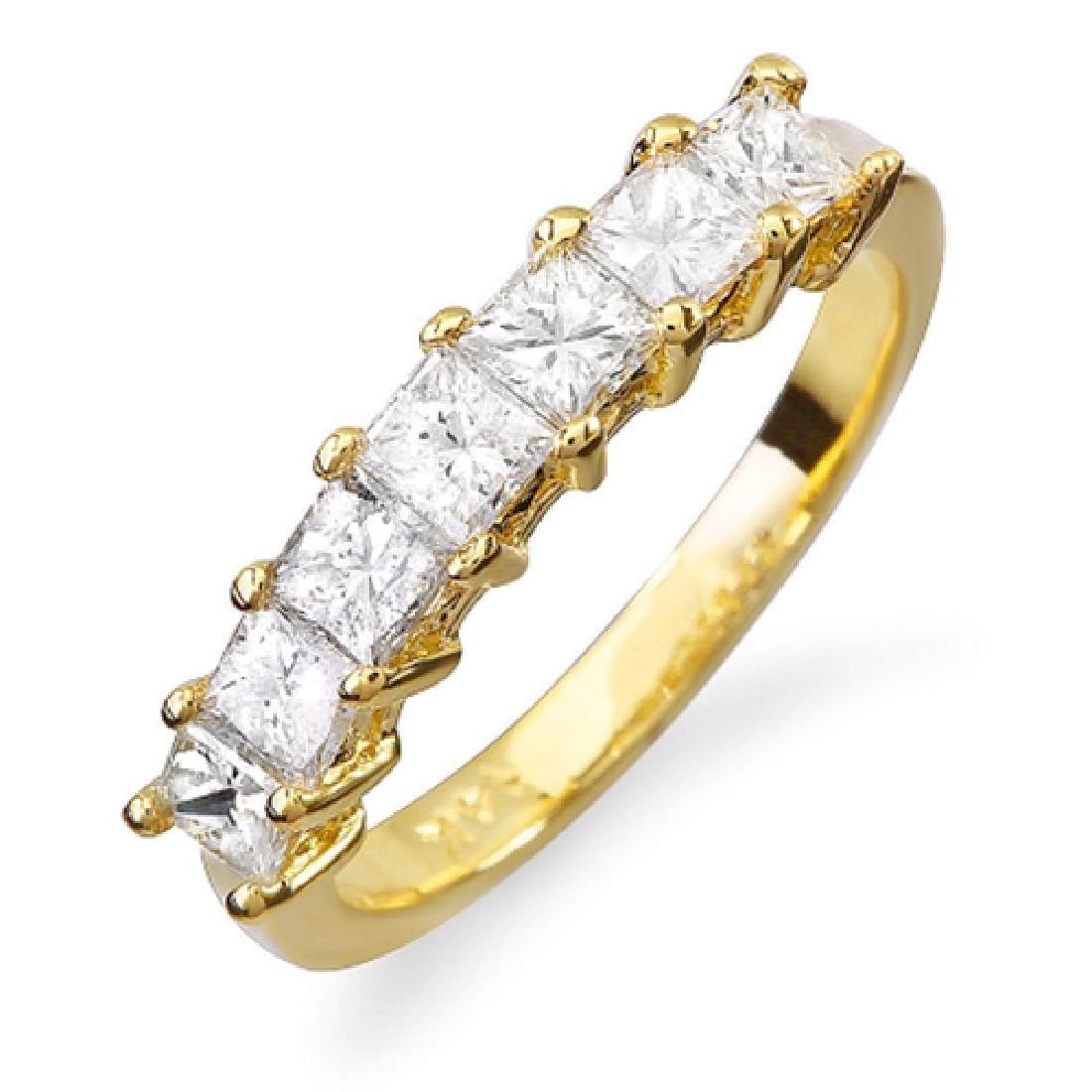 Mens 1.00 Carat Natural Diamond 18K Solid Yellow Gold