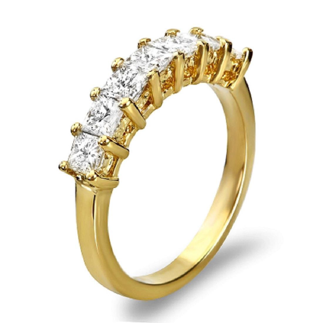 Mens 1.00 Carat Natural Diamond 18K Solid Yellow Gold - 2