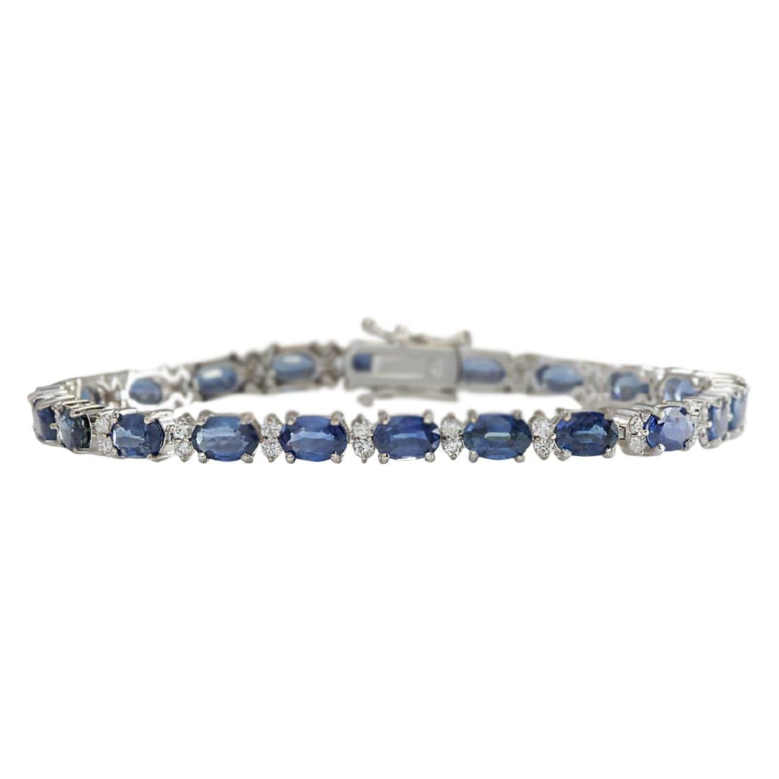 13.49 CTW Natural Sapphire And Diamond Bracelet In 18K