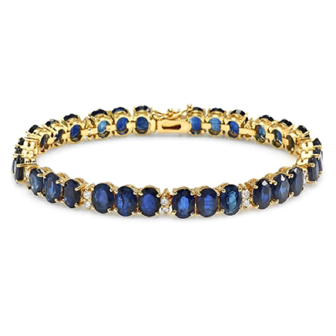 18.02 Carat Natural Sapphire 18K Solid Yellow Gold