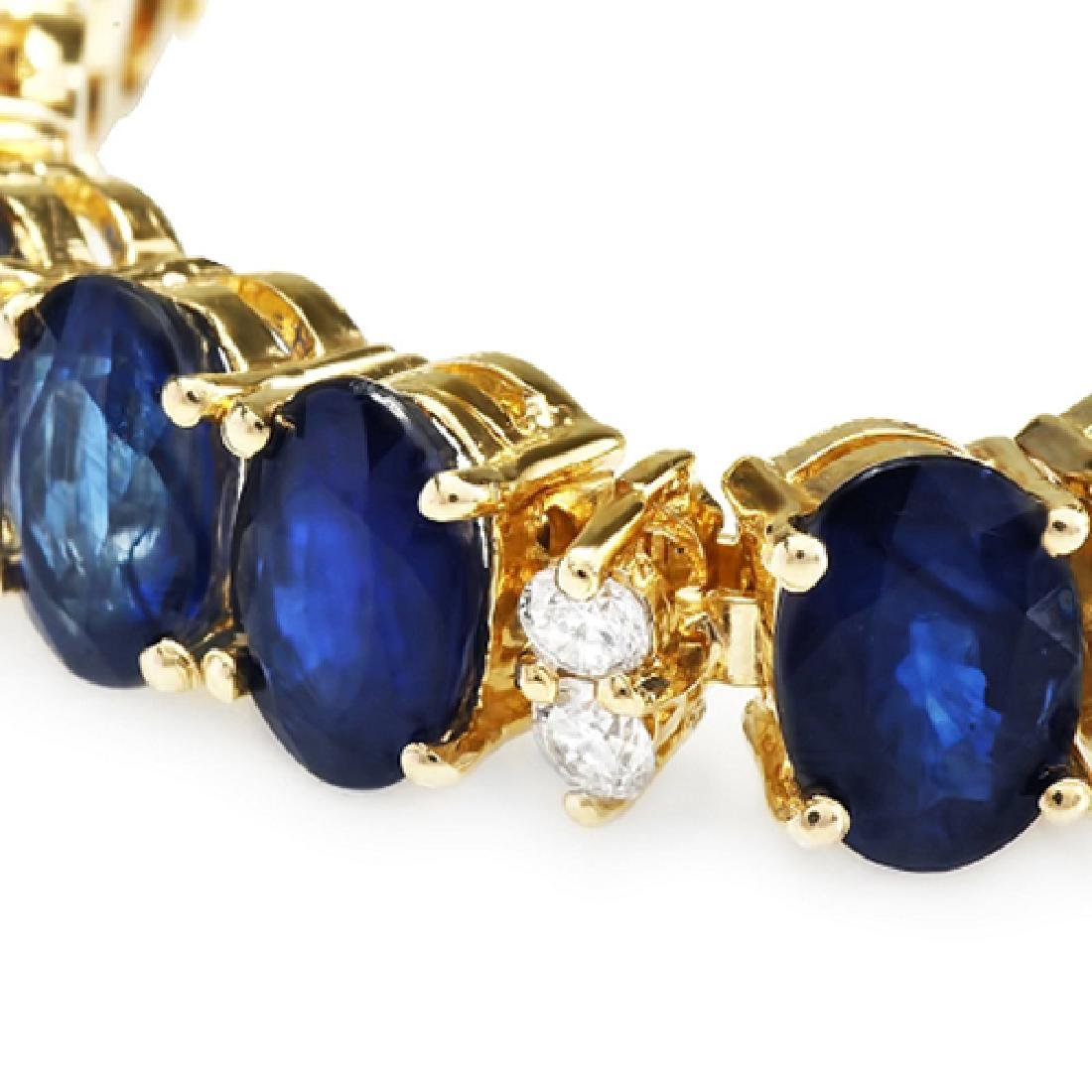 18.02 Carat Natural Sapphire 18K Solid Yellow Gold - 2