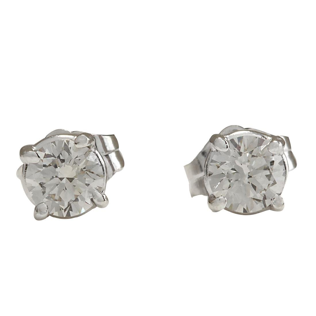 .68CTW Natural Diamond Earrings 18K Solid White Gold