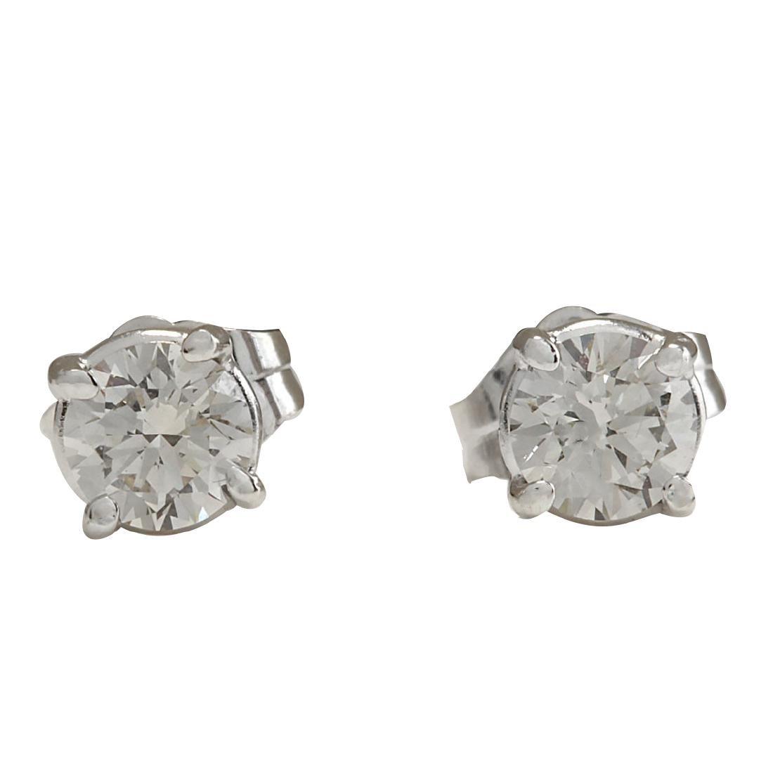 .68CTW Natural Diamond Earrings 18K Solid White Gold