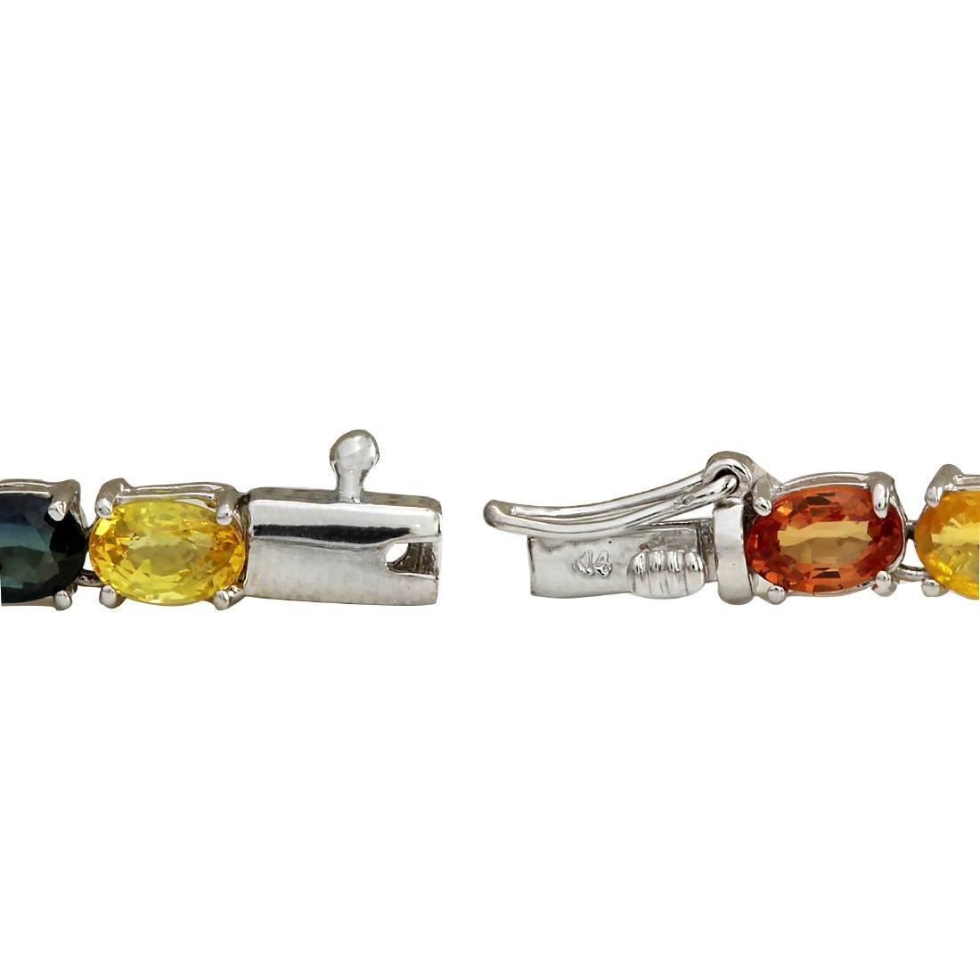 46.99CTW Natural Ceylon Sapphire And Diamond Necklace - 3