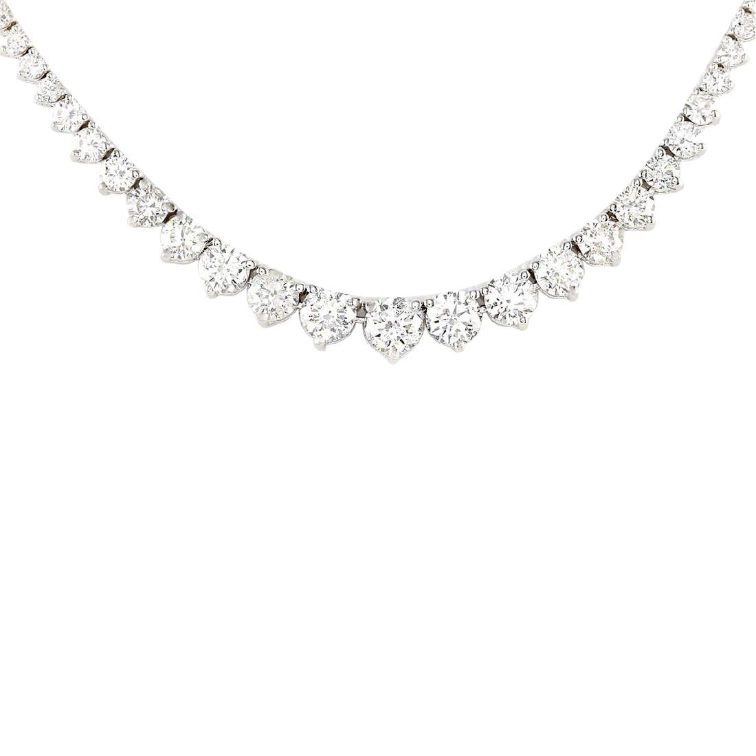 6.50 CTW Natural Diamond Necklace In 18K White Gold