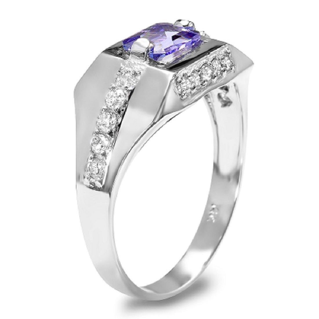 1.42 Carat Natural Sapphire 18K Solid White Gold - 2