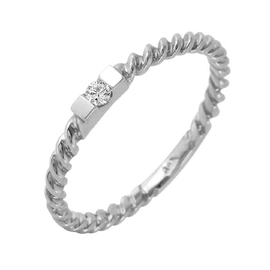 0.04 Carat Natural Diamond 18K Solid Rose Gold Ring