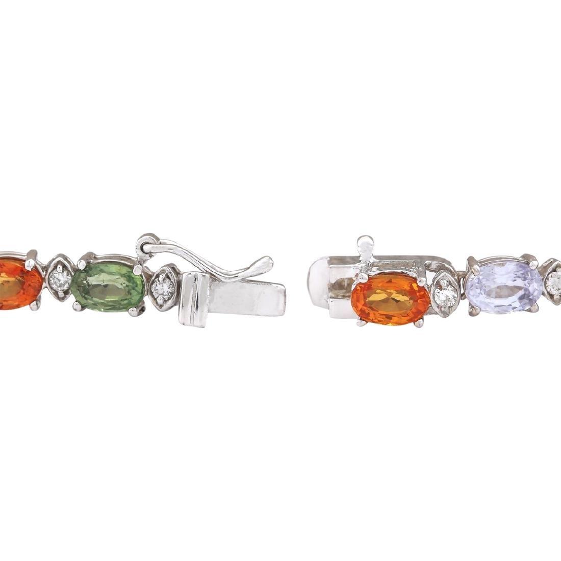 35.20 CTW Natural Ceylon Sapphire And Diamond Necklace - 3