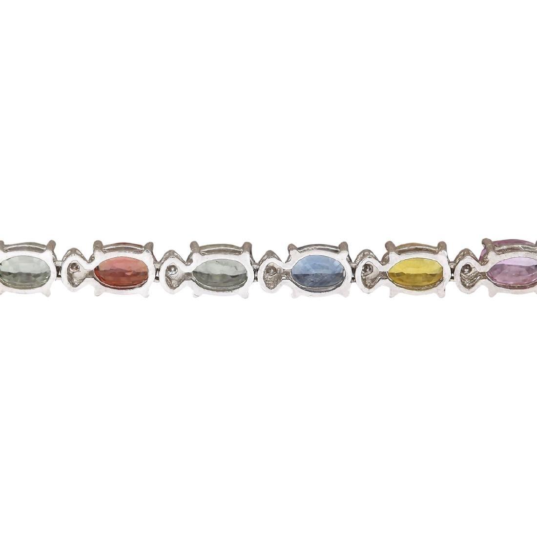 35.20 CTW Natural Ceylon Sapphire And Diamond Necklace - 4