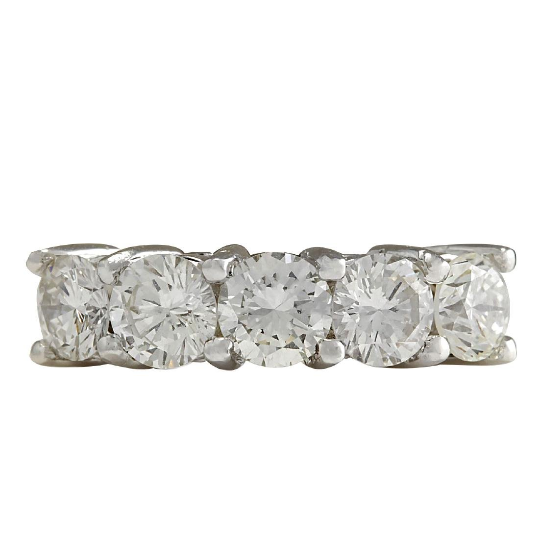 2.56CTW Natural Diamond Ring In 18K Solid White Gold