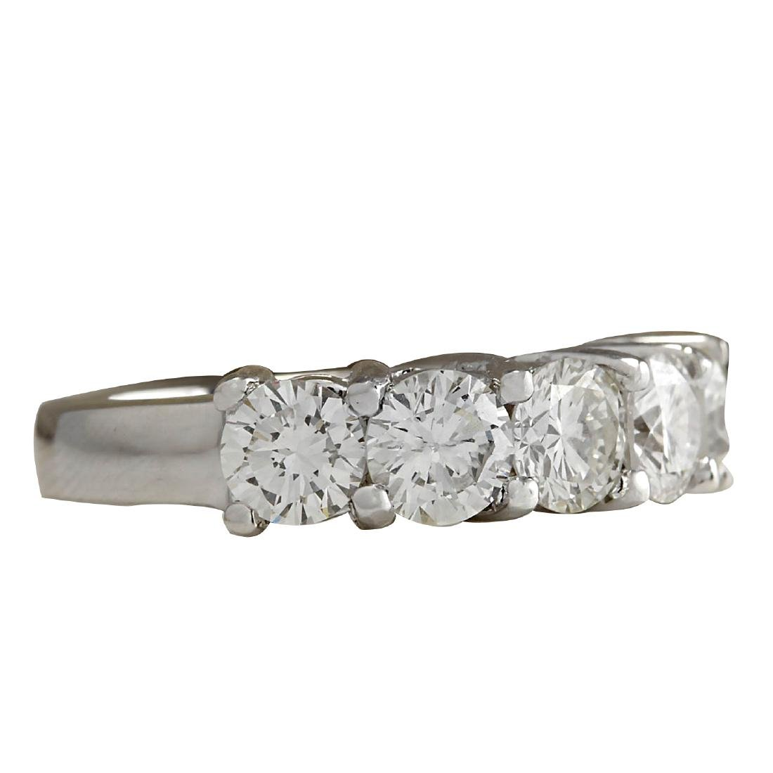 2.56CTW Natural Diamond Ring In 18K Solid White Gold - 2