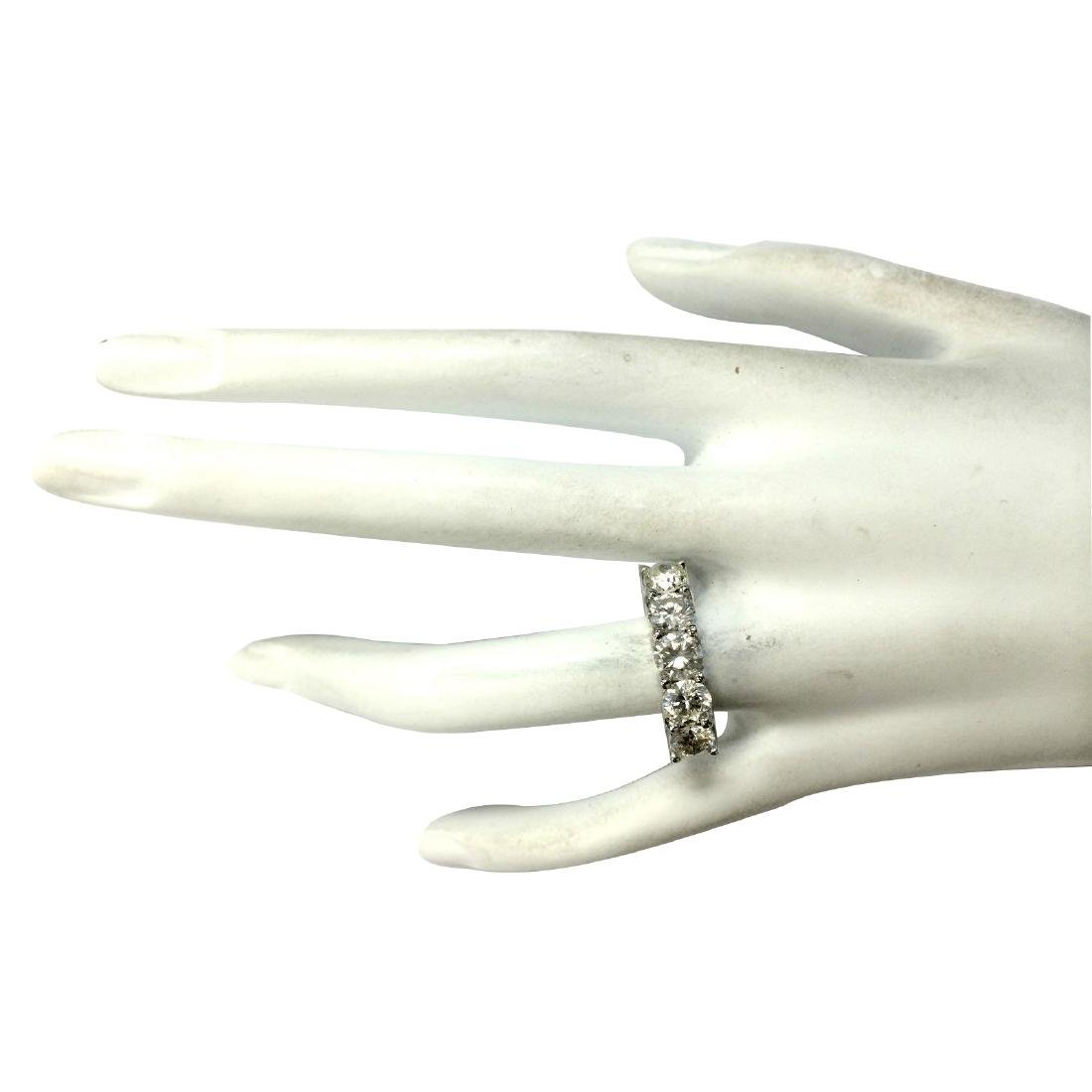 2.56CTW Natural Diamond Ring In 18K Solid White Gold - 4