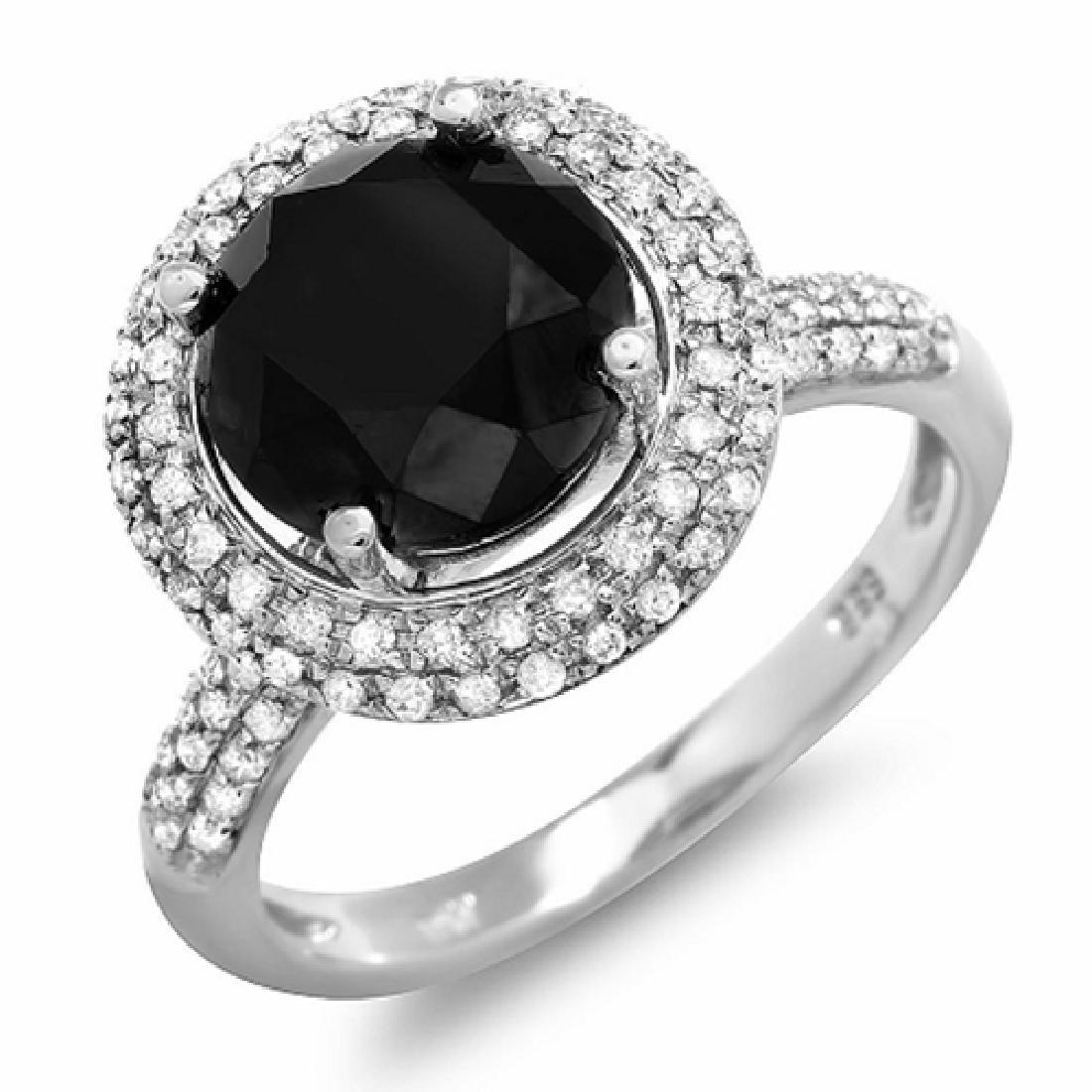 4.64 Carat Natural Diamond 18K Solid White Gold Ring