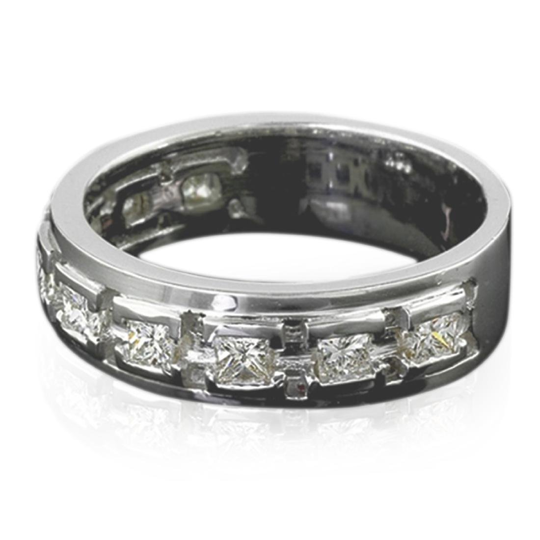 Mens 1.00 Carat Natural Diamond 18K Solid White Gold - 2