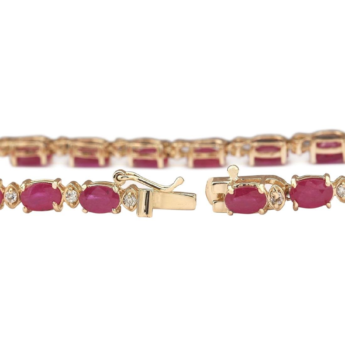 30.65 CTW Natural African Ruby And Diamond Necklace In - 4
