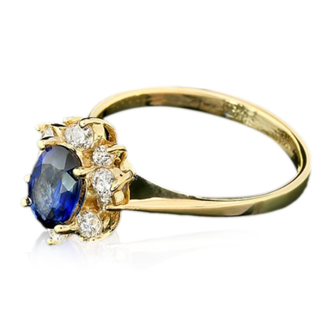 2.10 Carat Natural Sapphire 18K Solid Yellow Gold - 2