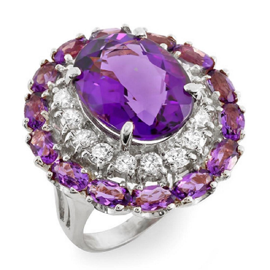 16.07 Carat Natural Amethyst 18K Solid White Gold - 2