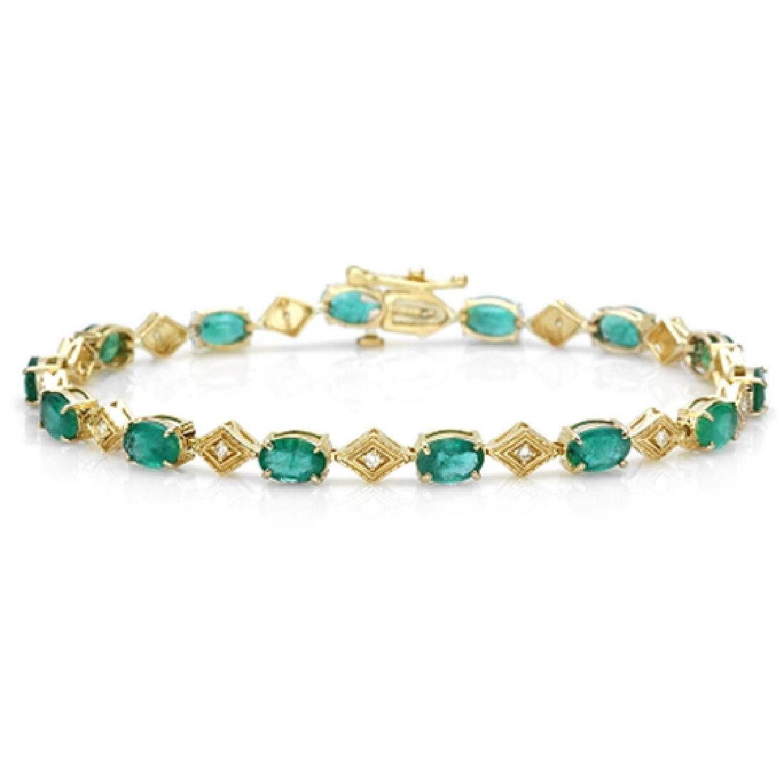 6.17 Carat Natural Emerald 18K Solid Yellow Gold