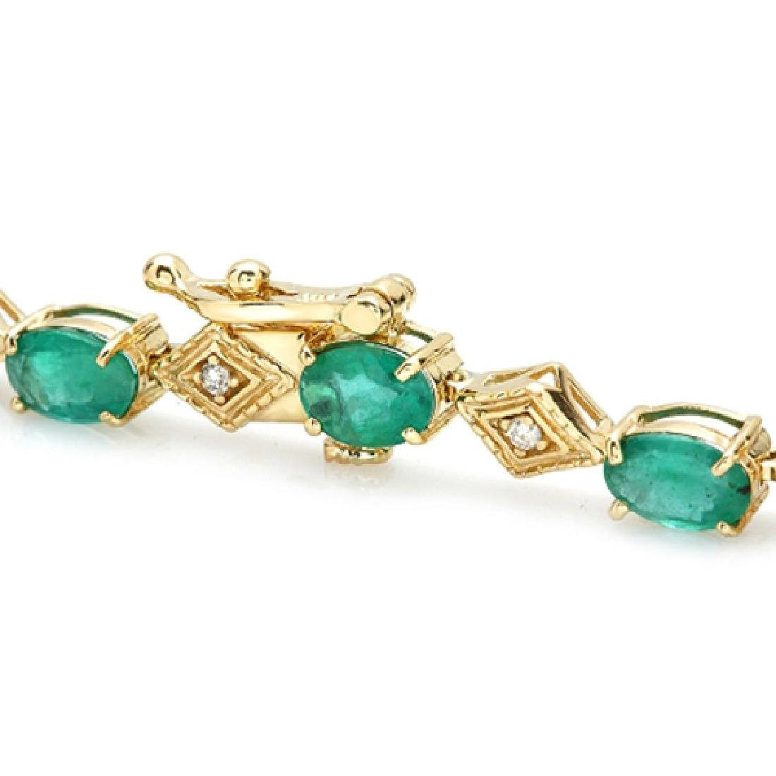 6.17 Carat Natural Emerald 18K Solid Yellow Gold - 2